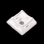 Площадка для стяжки [хомутов] универсальная 20х20 мм белая нейлон