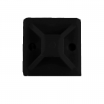 Площадка для стяжки (хомутов) самоклеящаяся 20х20 мм черная нейлон