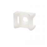 Площадка под винт для стяжки [хомутов] 5,8 мм 16,5х22 мм белая нейлон