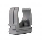 Крепеж для гофротрубы Ø 25 мм, Ø отв. 5 мм, цвет серый 50 шт