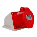Силовой штепсельный разъем 4x32 (стационарный) 3P+PE /32 A /380-415V /IP44