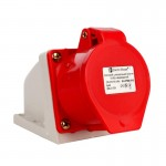 Силовой штепсельный разъем 5x16 (стационарный) 3P+PE+N /16 A /380-415V/IP44
