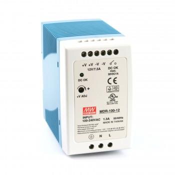 Блок питания импульсный Mean Well на DIN-рейку 90W 12V (IP20, 7,5A) Series